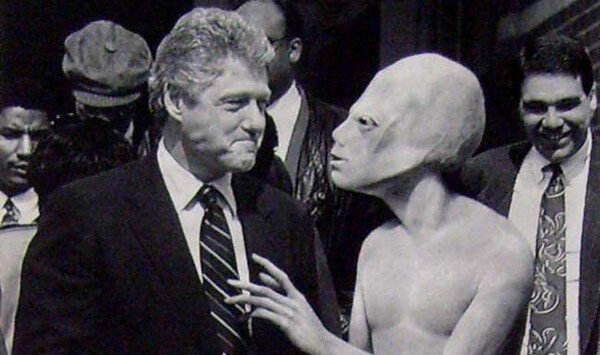 bill clinton aliens