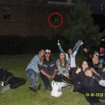 This party was photobombed by a 'ghost lady holding a baby'
