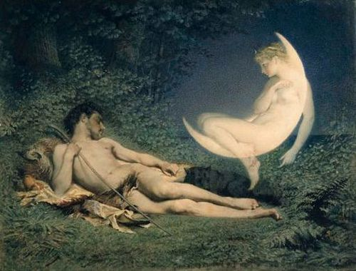 The Goddess of the Moon and Endymion