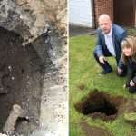 Stairway to… hell? Mystery as massive hole with steps down appears in this family's garden