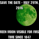UPDATED: Green Moon Will be in the Sky on 29th May 2016