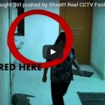 SECURITY CCTV Camera Caught Girl pushed by Ghost! Doesn't Get Spookier!