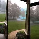'Eerie Energy' Filmed During Hailstorm